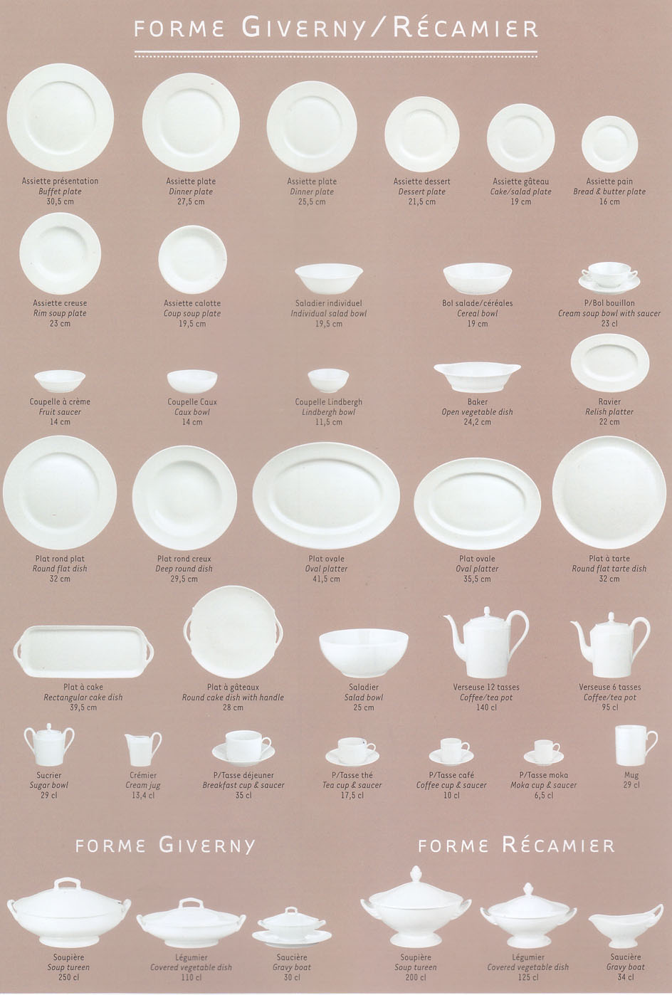 View the full range of shapes for Giverny  sc 1 st  Elegance2003 : tableware list - pezcame.com