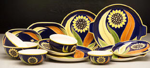 Polish Pottery House Stoneware | Sunflower Pattern Traditional