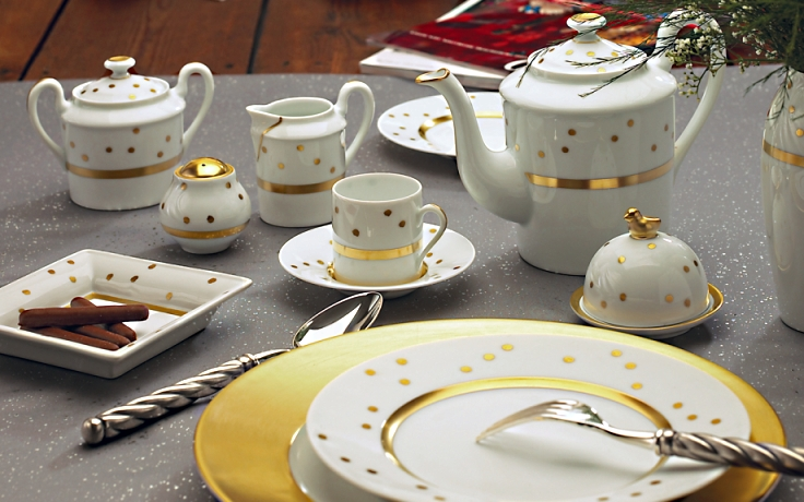 polka dot china Ecume by jammet Seignolles & Limoges China Polka dot Dinnerware|Ecume fine china|J.Seignolles