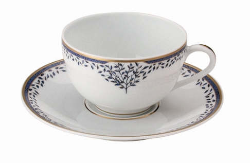 Arborescence tea cup by Seignolles fine Limoges dinnerware ...  sc 1 st  Elegance2003 & Blue and White dinnerware|Arborescence|Limoges|France