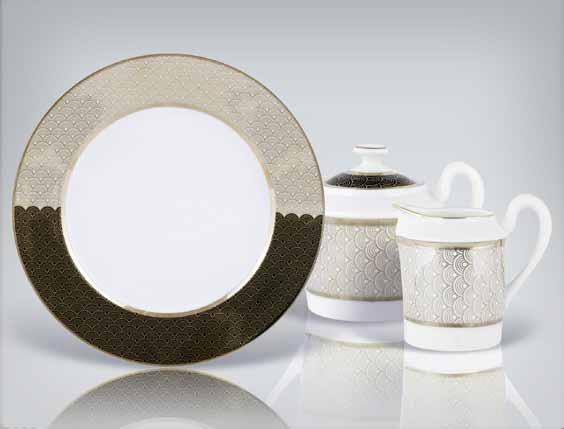 reverse pattern dinnerware