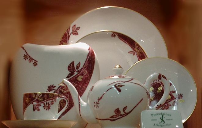 Seignolles Oxalis - French Limoges dinnerware with a Japanese influence : japanese style dinnerware - pezcame.com